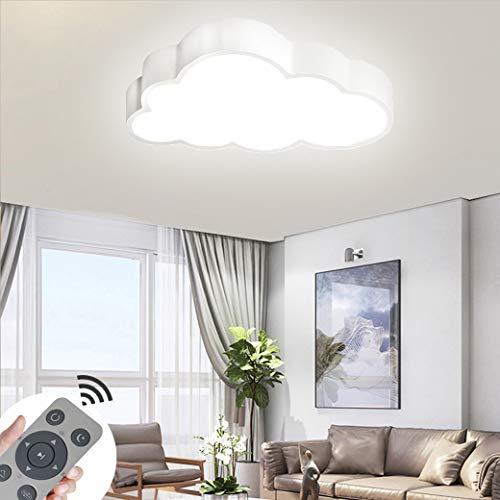 CASNIK 48W Wolken LED Deckenleuchte Modern Dimmbar Deckenlampe Ultraslim Schlafzimmer Küche Flur Wohnzimmer Lampe Energie Sparen Licht (Weiß Schale -48W Dimmbar)