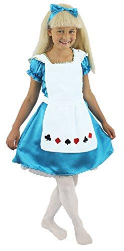 ILOVEFANCYDRESS Kinder Alice SÜßE Wonderland KOSTÜME IN HIMMELBLAU MIT Einer WEIßEN SCHÜRZE UND EINEM HIMMELBLAUEN Haarband !!! IN DER GRÖSSE S /116-112