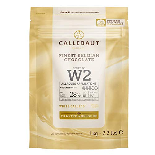 Callebaut W2 28% pepitas de Chocolate Blanco (callets) 1kg