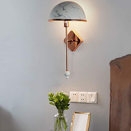 LEDWandlicht cobre hierro de color de la pared de material E14Lampenhalter iluminación de luz cálida (3000K) estilo Höhe40cm Durchmesser20cm Leistung1.7w nórdica Macarons modernos aplican dormitorios