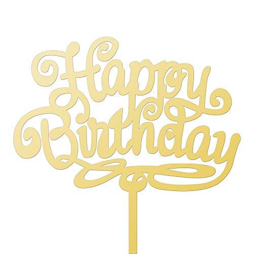 DEKOWEAR Cake Topper Tortenfigur Happy Birthday Torten Geburtstag Tortendeko Dekoration Acryl Kuchen Deko Tortenstecker Kuchenstecker Tortendeko Kindergeburtstag