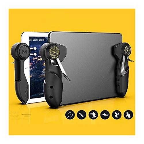 CMDZSW - Mando de juego móvil PUBG para iPad Tablet PC de seis dedos de palanca de mando con botón de objetivo L1R1 Gamepad Trigger