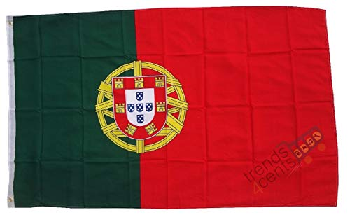 MM Portugal Flagge/Fahne, wetterfest, mehrfarbig, 150 x 90 x 1 cm, 16294