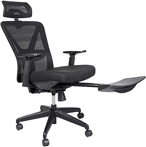 Mesh Chair Heavy Duty Desk Chair,Ergonomic Computer Chair,Adjustable Headrest and Armrest,Home Office Chair with Tilt Function and Position Lock,High-Back,Swivel Computer Task Chair,Black.