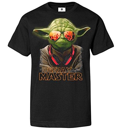 Customized by S.O.S Herren T-Shirt DJ Yoda (S, Schwarz)