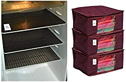 decorative Refrigerator Drawer Mats & Non-Woven Saree Cover Set