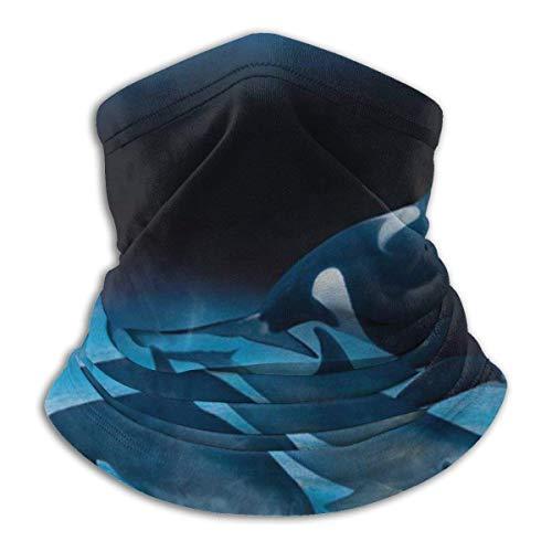 KDU Fashion Magic Headband, vredig wal- en dolfijnzwemmen bandana met oceaanaanhoudende, lichte sjaalhoofdbanden voor sport, atletische gym