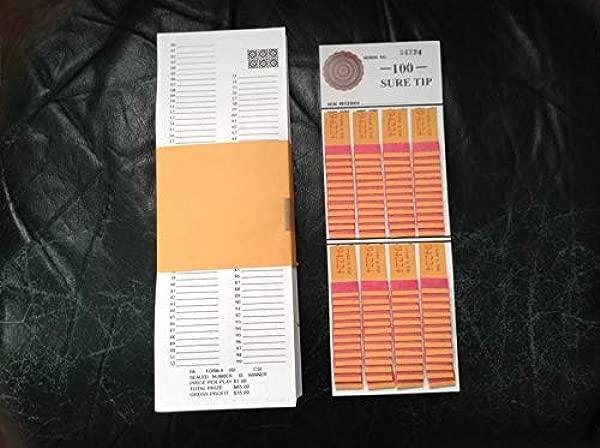Opmnla 1 Dozen 100 Sure Tip Board Fund Raising Raffle Bingo Pull Tab Jar Raffle Tickets Vtg Key 100 Tips