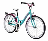 BIKESTAR Bicicleta Infantil para niñas a Partir de 10 años | Bici 24 Pulgadas con Frenos | 24' Edición Clásica Mentha