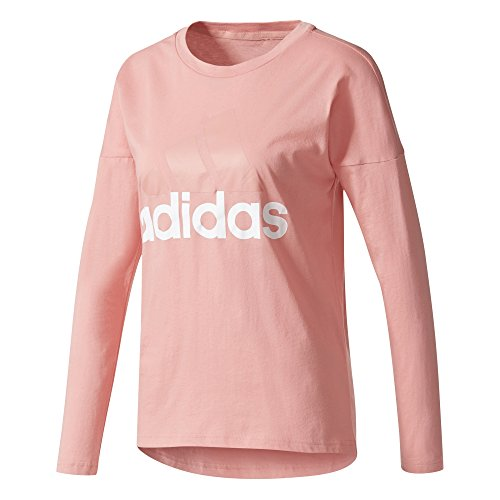 adidas ESS Li Losleeve Camiseta, Mujer, Rosa (rostac), XS
