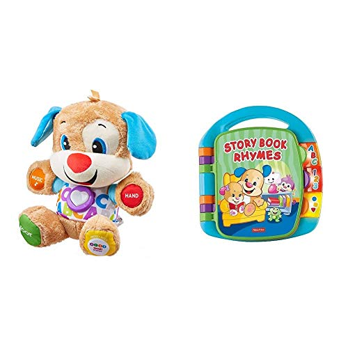 Fisher-Price FPM43 Smart Stages Puppy, Laugh and Learn Soft Educational Electronic Toddler Learning Toy with Music and Songs, Suitable for 6 Months+ & Laugh & Learn Storybook Rhymes
