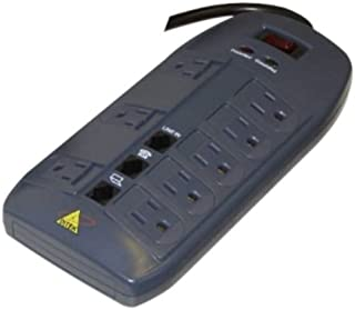 Ditek DTK-8FF 8 outlet surge protector with 1 pair tele