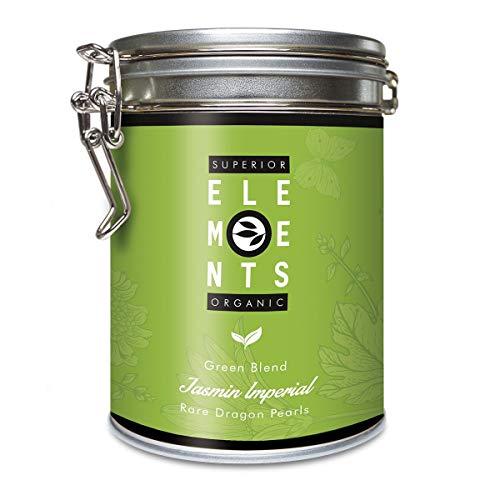 alveus® Superior Organic Elements (Jasmin Imperial, Mezcla de Té Verde, sabor Jazmín, Lata A Granel 100 Gramos)