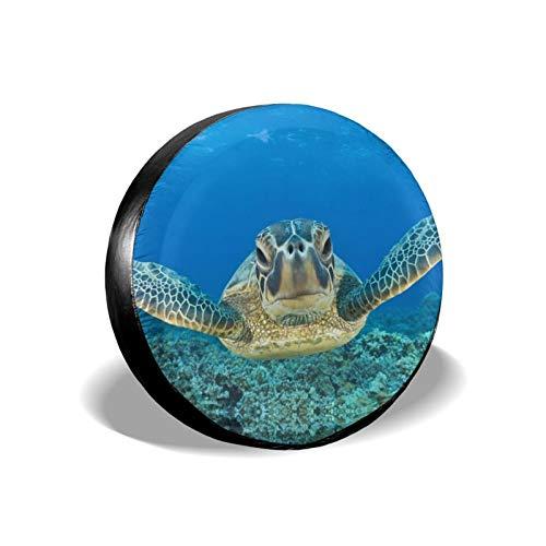 Lonely Sea Turtle - Cubierta de neumático de repuesto impermeable a prueba de polvo UV para neumáticos de Jeep, remolque, RV, SUV y muchos vehículos de 40,6 cm
