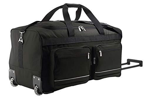 SOL'S Voyager - Sac de voyage à roulettes - valise avec grand compartiment zippé - Noir - UNIQUE