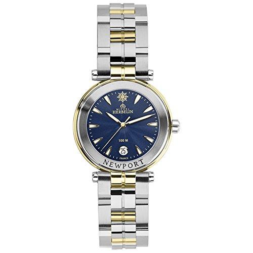 Michel Herbelin Unisex Erwachsene Analog Uhr mit Edelstahl Armband 14285/BT35
