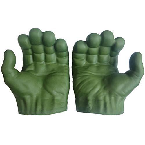 ADIUMA PVC The Hulk Cosplay Gloves Hulk Gloves Niños Halloween Navidad Niños Disfraz Juguetes