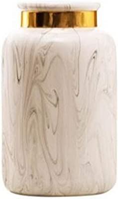 HI-vases Floreros con Motivos de mármol, Sala de Estar Interior hogar floreros creativos