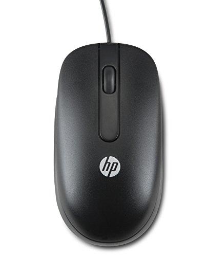 HP USB Optical Scroll Mouse - Ratón (USB, Óptico, Oficina, Negro, Ambidextro, Monótono)