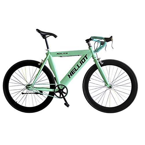 Helliot Bikes Fixie Nolita 55 Bicicleta Urbana, Hombre, Azul/Verde, Talla Única: Amazon.es: Deportes y aire libre