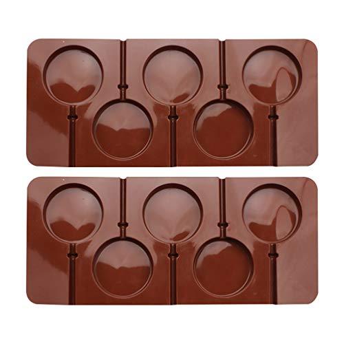 STOBOK 2 moldes de silicona Lollipop DIY bandejas de chocolate molde de caramelo arte molde DIY hacer suministros de velas dulces
