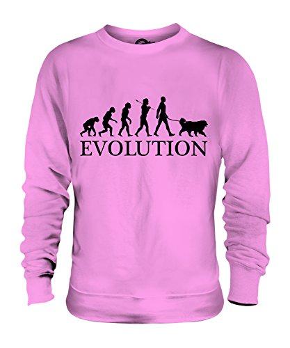 Candymix Saint-Bernard Évolution Unisexe Sweat-Shirt Homme Femme, Taille X-Large, Couleur Rose