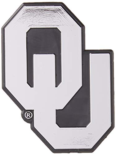 NCAA Oklahoma Sooners Chrome Finished Auto Emblem 3D Sticker