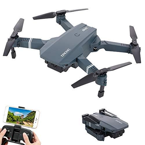 GoolRC S107 - Dron con cámara RC, WiFi, FPV, cámara de 720P, altura de vuelo, soporte de pie, foto, vídeo, abatible, modo sin cabeza, plegable, para adultos y niños