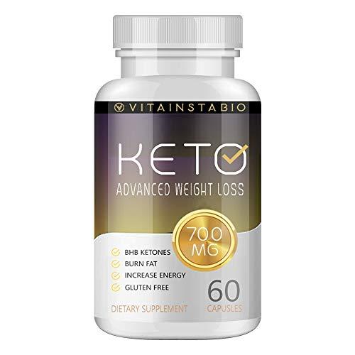 Vitainstabio Keto Pills - Vitainstabio Keto 700mg - Vitainstabio Keto with BHB - Vitainstabio Keto Advanced Ketogenic Formula (60 Pills - 1 Month Supply)
