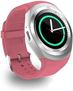 Relojes Inteligentes Hombre Smartwatch Android - EASYTAO Español Conecte la Tarjeta SIM Deportivas Hombre mi Band 2 Reloj Inteligente,Ejecutar la Detección Del Sueño, Llamar al Chat en Línea, Enviar y Recibir Correo, Etc., Viene Con Memoria Interna de 32M y Se Puede Conectar 32G Micro SD (no incluida) Multicolor Opcional (Rosa)