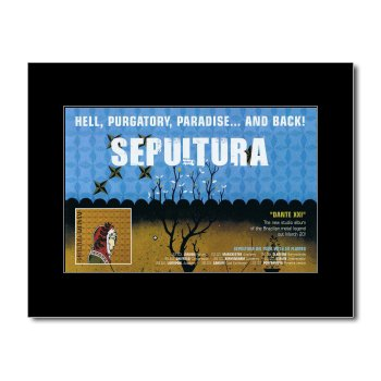 SEPULTURA - Dante XXI Matted Mini Poster - 21x13.5cm