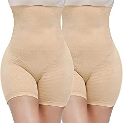 COMFORTABLE & BREATHABLE BODY SHAPER- Our shaperwear made of soft and high-elastic fabric which is comfortable and breathable to prevent skin allergies and ensure skin comfort. It's very comfortable to wear our thigh slimming shorts from day & night....