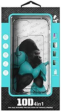 مجموعة الحماية الكاملة للهاتف المحمول (واقي الشاشة، غطاء خلفي، عدسة كاميرا، شريط خلفي) متوافقة مع ايفون 12/12 برو/12 برو ماكس (12 برو ماكس)