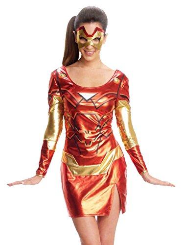 Rubies 's–Disfraz de Iron Man Resue, Adulto–Oficial señoras de Marvel pequeño 8-10
