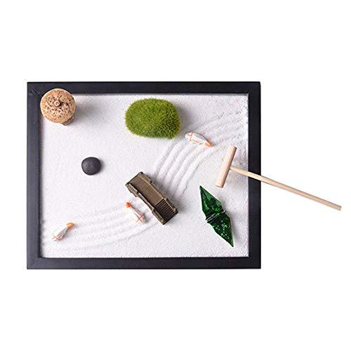 Marlon Nancy Zen Garden Set,Includes Sand, Stone, Rake, Fish, Pavilion,...