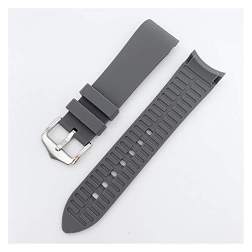 WNFYES 20 mm 22 mm 24 mm Reloj de Silicona Correa de Banda de Goma Suave Arco de Arco de Codo Mujeres Reloj Reloj Banda Pulsera Accesorios Correa de Silicona (Band Color : Grey, Band Width : 22mm)