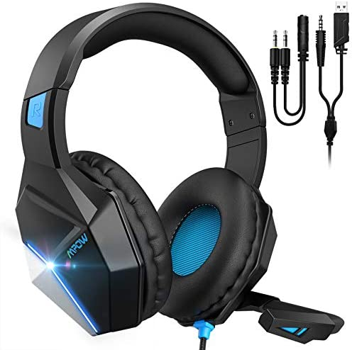 Mpow EG10 PC Gaming Headset for PS4 PS5 PC Xbox One Switch 7 1 Surround Sound Headset with Microphone product image