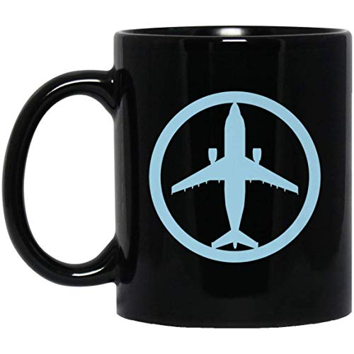Airbus A300 Beluga Jet Airplane Aviation Cargo Pilot 11 oz. Black Mug