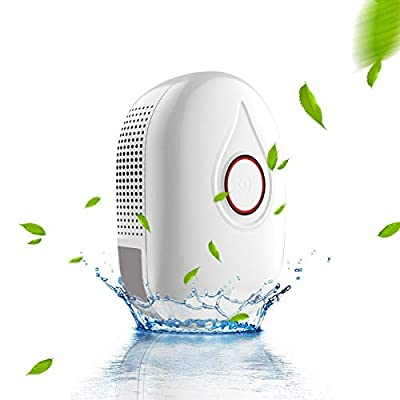 New Electric Quiet Mini Dehumidifier 500ML(16.9 oz) Capacity Compact and Portable for High Humidity in Home Kitchen Bedroom Bathroom Basement Caravan Closet Office RV Garage with Auto Shut Off from Unique ZONE