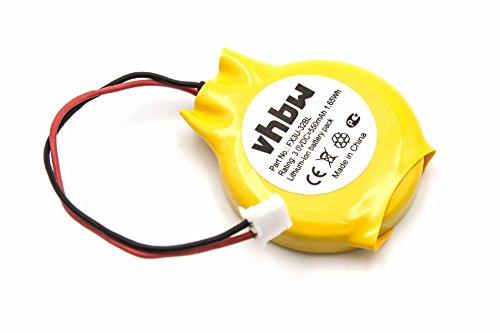 vhbw Li-Ion Bios Batterie 550mAh (3V) für Mitsubishi Melsec FX2N, FX3N, FX3U wie GT11-50BAT, FX3U-32BL.