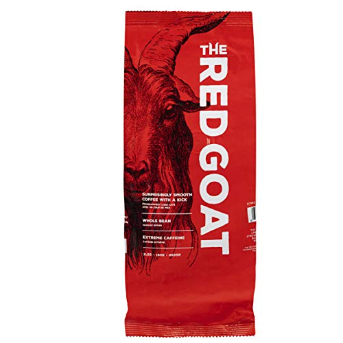 The Red Goat Whole Bean Strong Coffee | Extreme-Caffeine Coffee | Strongest Coffee on the Market | Delicious Smooth & Strong Coffee Flavor | [16 OZ] Roasted Coffee