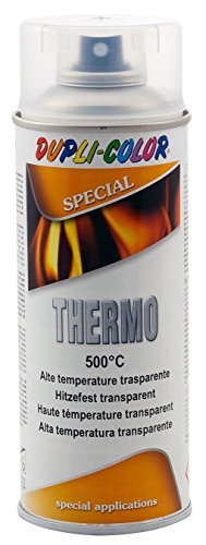 DUPLI COLOR 409362 Thermo Spray Paint, 500 Grad Celsius, 400 ml, transparent