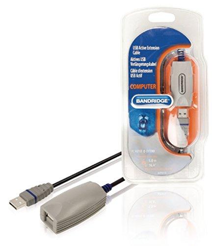 Bandridge - Cable Alargador USB Activo De 5,0 M Macho A Hemb