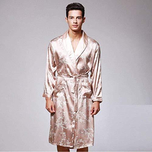 FGVBC Amantes Bata De Seda Satinada, Hombres Mujeres Kimono Verano Albornoz Ropa De Dormir para Hombre Bata Mujeres Conjuntos De Pijamas, B-3Xl