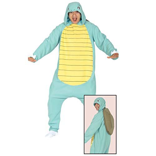 Amakando Lustiges Kostüm Schildkröte für Damen & Herren / Hellblau L (52/54) / Tierkostüm Onesie mit Schildkrötenpanzer / EIN Highlight zu Karneval & Mottoparty