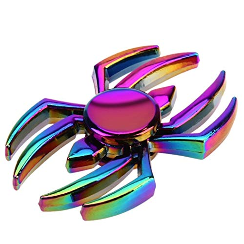 Best Price Believe in yourself Zinc Alloy Colorful Fingertip Top Gyro Spider Finger Top Gyro Toy