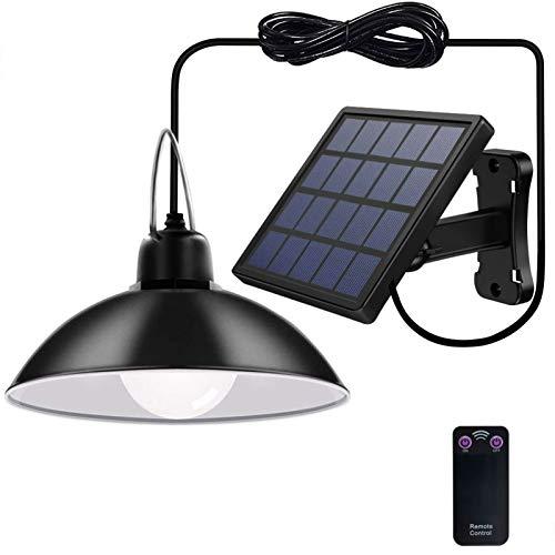 Luces solares colgantes para exteriores, impermeables, luces LED solares para jardín, cobertizo, lámpara solar para camping, granero, granero, granero, camino, patio, balcón, paisaje