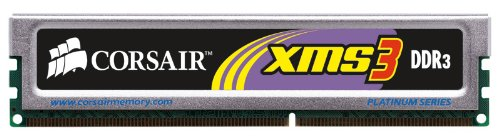 Corsair PC-12800 Arbeitsspeicher 6GB (1600MHz, Unbuffered, DIMM, 7-7-7-20 1T, Matched XMS3 with XMS Heat Spreader) DDR3