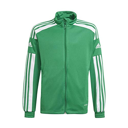 adidas Giacca sportiva unisex per bambini Sq21 Tr Jkt Y, Unisex - Bambini, Giacca da tuta, GP6456, Team verde/bianco., 176