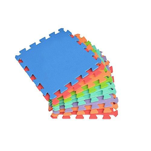 Mediawave Store Tappeto Gioco Puzzle Componibile Colorato 20 Pezzi 30X30 cm Schiuma Eva